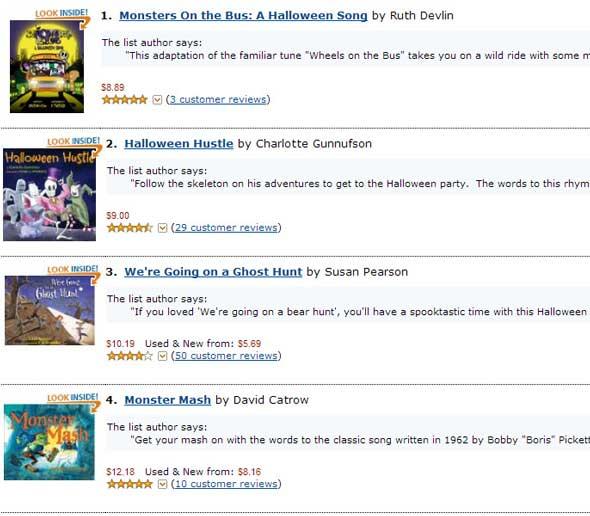 Amazon Listmania Halloween Song Stories