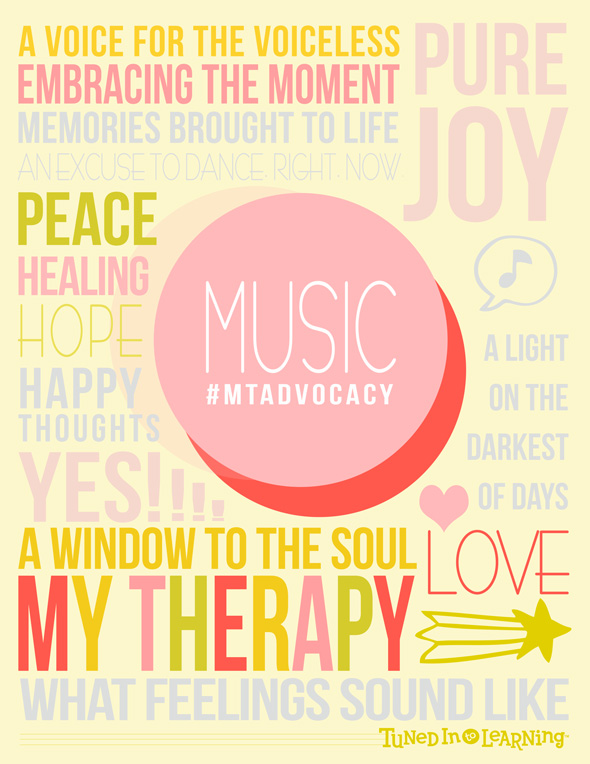 Music Therapy Advocacy Poster Download 2014 - Tuned in to Learning