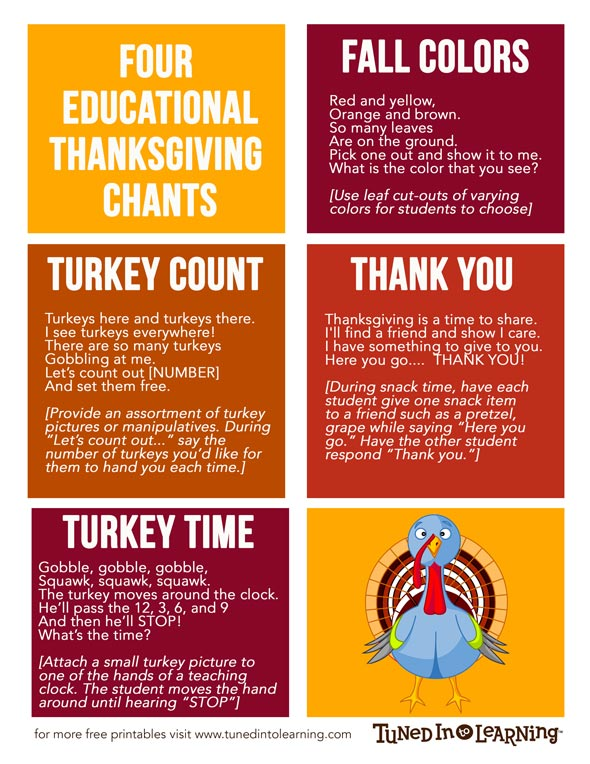 Fall and Thanksgiving Music Therapy Educational Activities - Tuned in to Learning