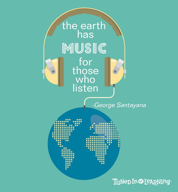 The earth has music for those who listen - Quote | Tuned in to Learning