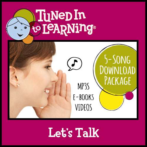 Let's Talk Bundle - Tuned in to Learning | Music for Special Education