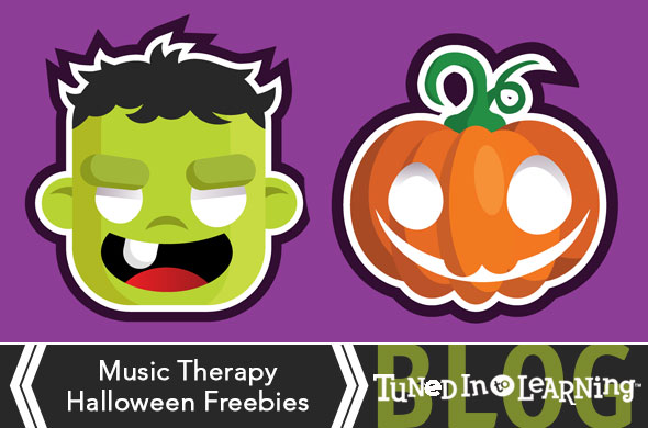 Music Therapy Halloween Freebies | Tuned in to Learning - Music for Special Education